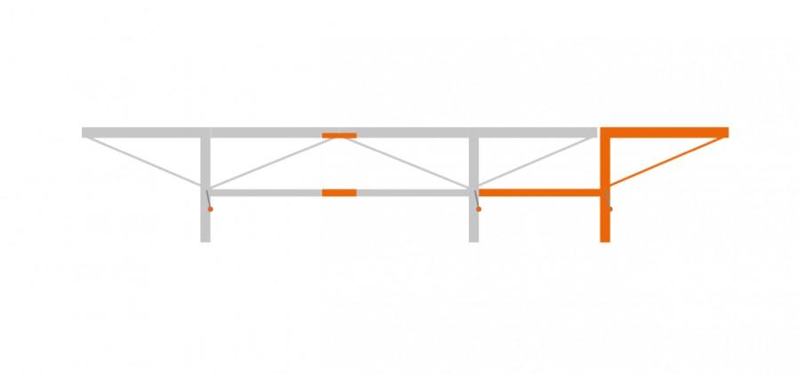 Ensemble extension de 1,0 m avec 1 table à grumes additionnel, F2+