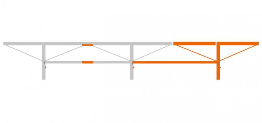 Ensemble extension de 2,0 m avec 1 table à grumes additionnel, F2+