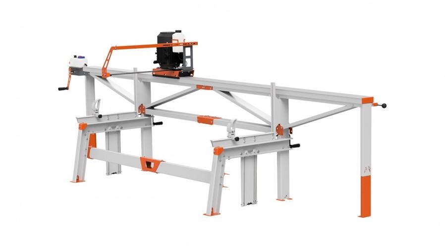 F2+ Scierie portative (4 m) avec Scie électrique ES5, alimentation à distance manuelle