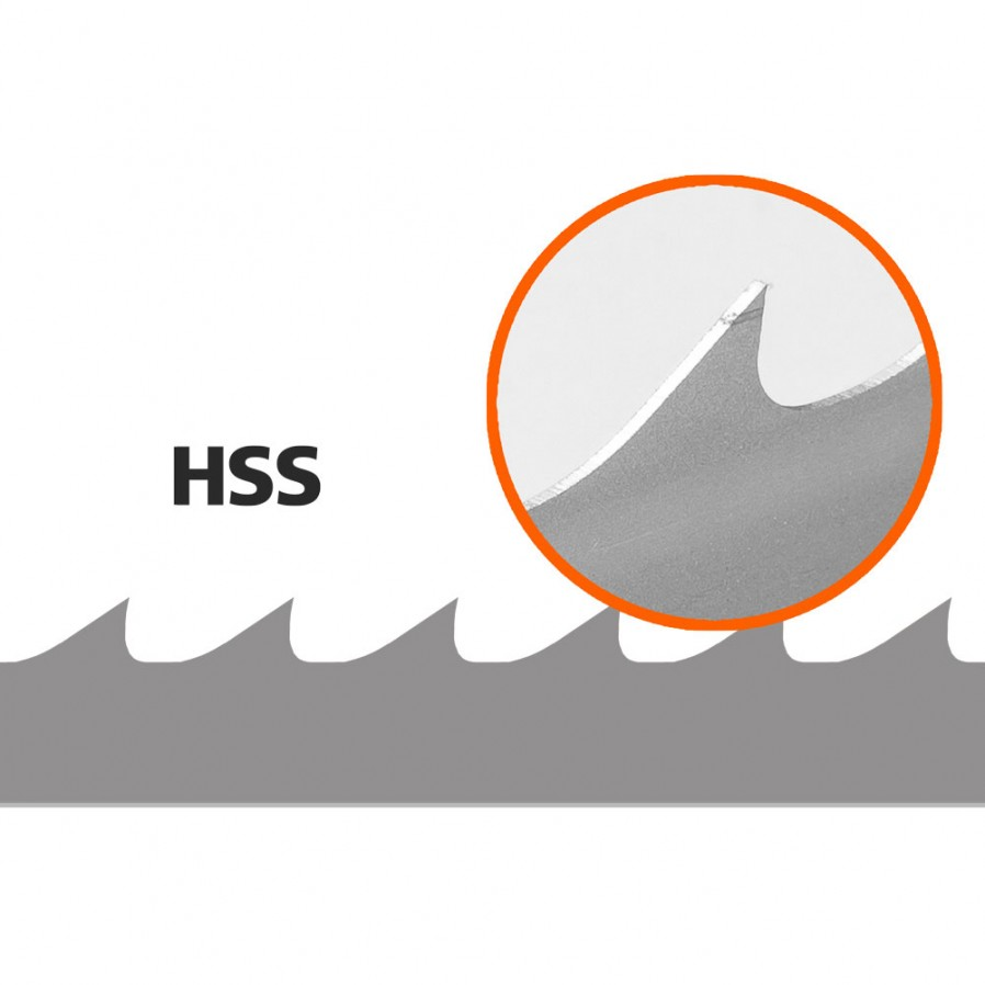 Lames, 5 pces, Logosol B1001 (HSS), L: 4310 mm, W:34 mm