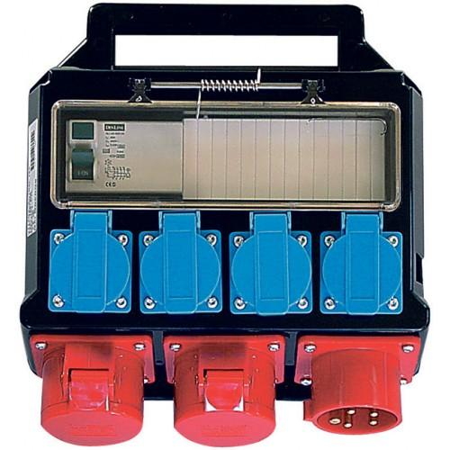 Boitier électrique portable, 2 x 400V/16A, 4 x 230V/16A
