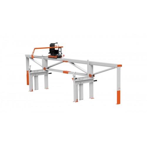 F2 Scierie portative (4 m) avec Scie électrique ES5, alimentation par manivelle simple
