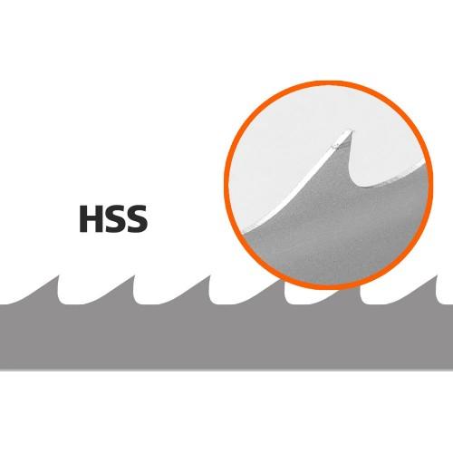 Lames, 5 pces, Logosol B751 (HSS/Bimetal), L: 3843 mm, W:34 mm